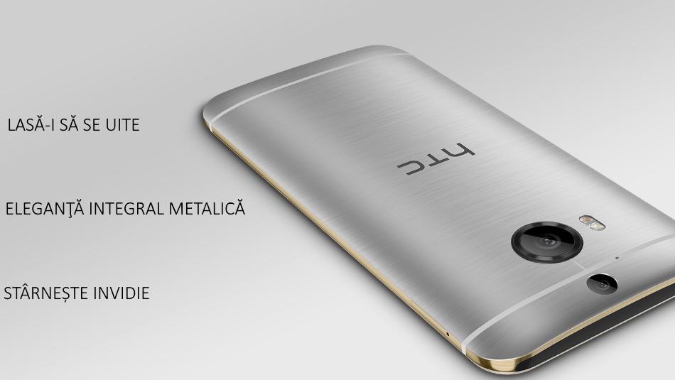 Telefon mobil HTC One M9 Plus, 32GB LTE, Silver Gold 1