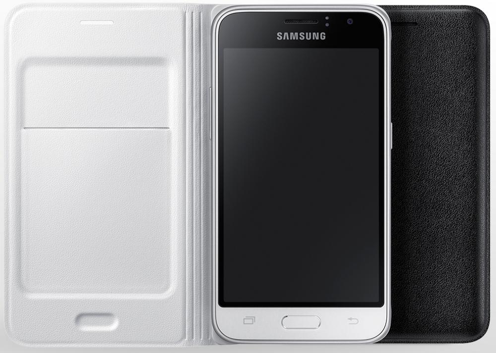 Husa Flip Wallet pentru Samsung Galaxy J1 2016 (J120), EF-WJ120PB Black 2