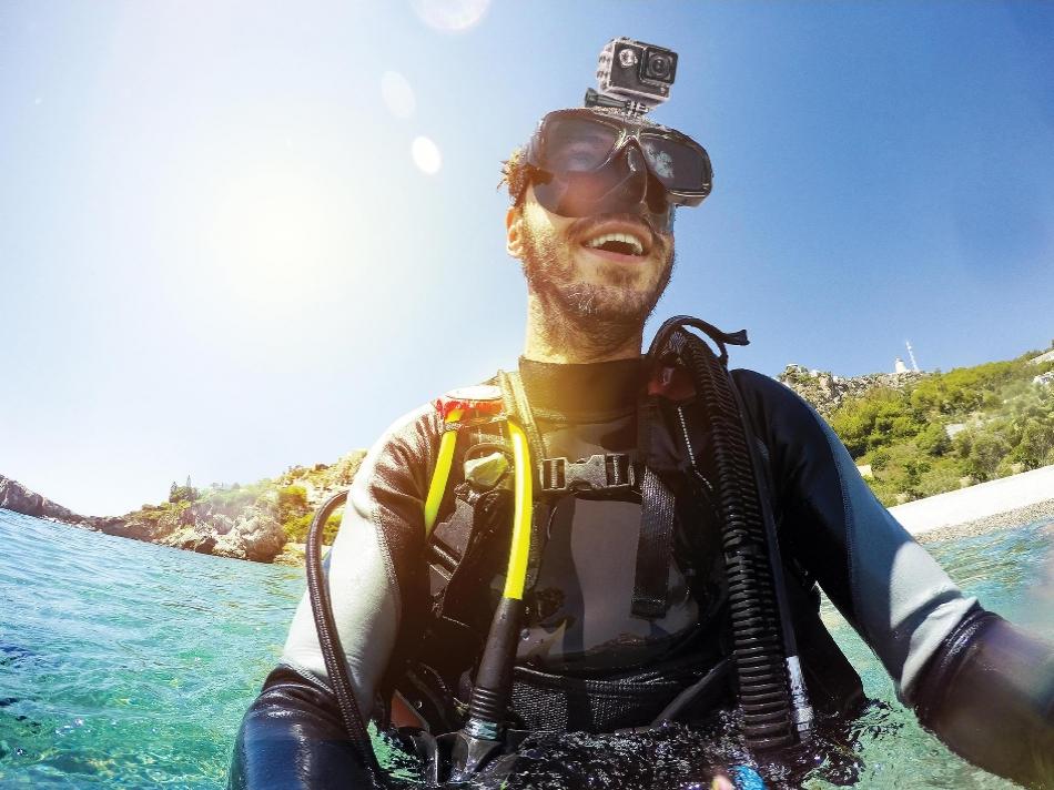 Kitvision Sistem montare camera actiune pe ochelari subacvatici, KVACSUBM