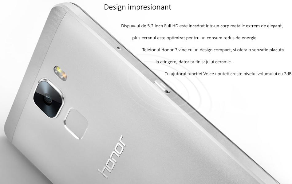Telefon mobil Dual SIM Honor 7, 16GB + 3GB RAM 2