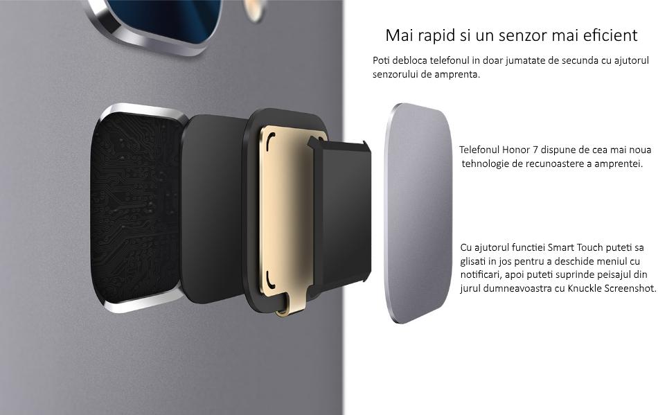Telefon mobil Dual SIM Honor 7, 16GB + 3GB RAM