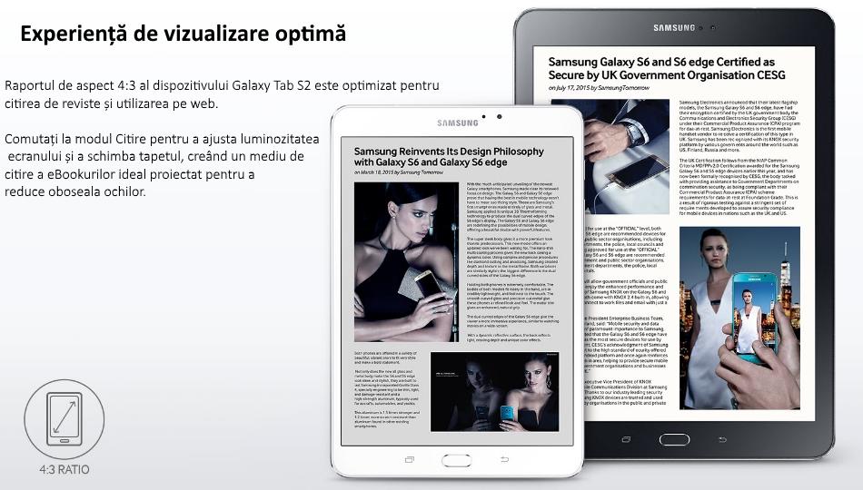 Tableta Samsung Galaxy Tab S2 8.0, Octa-Core, 32GB + 3GB RAM, LTE, T719 Black 01