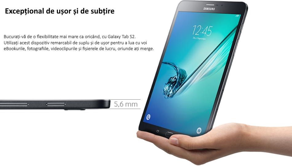 Tableta Samsung Galaxy Tab S2 8.0, Octa-Core, 32GB + 3GB RAM, LTE, T719 Black