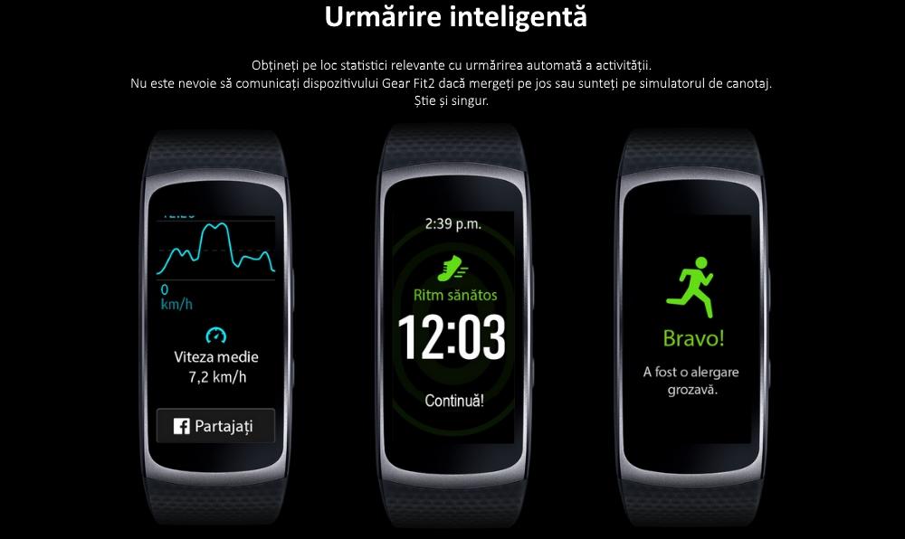 Ceas SmartWatch Samsung Gear Fit 2, SM-R360 Dark Gray 3