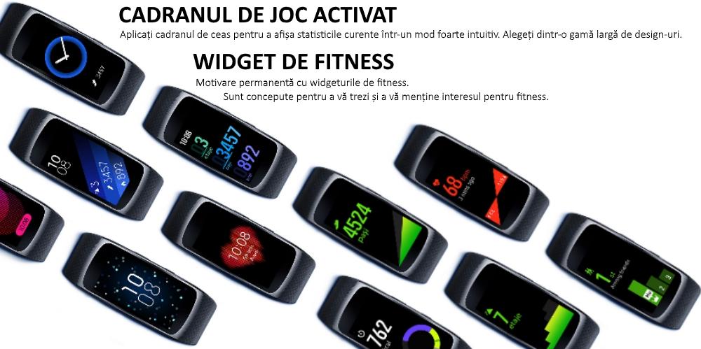 Ceas SmartWatch Samsung Gear Fit 2, SM-R360 Dark Gray 6