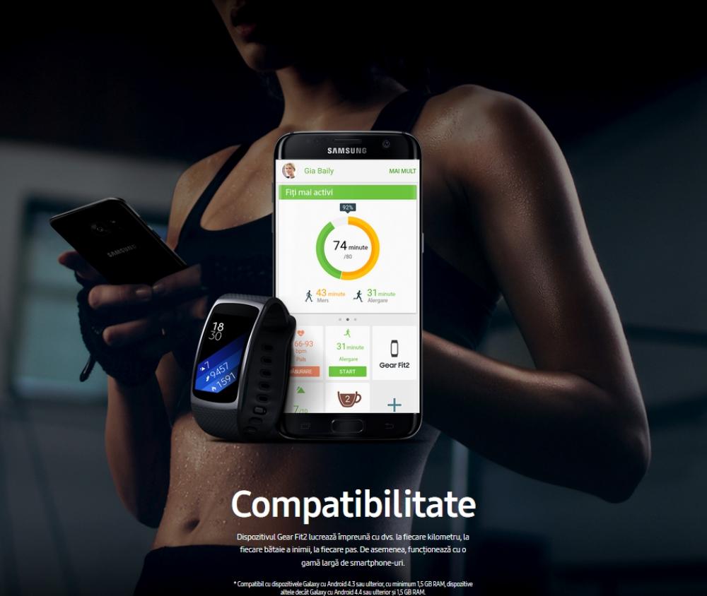 Ceas SmartWatch Samsung Gear Fit 2, SM-R360 Dark Gray 9