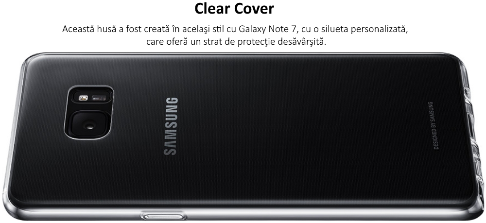 Husa Clear Cover pentru Samsung Galaxy Note 7 (N930), EF-QN930TT Transparent
