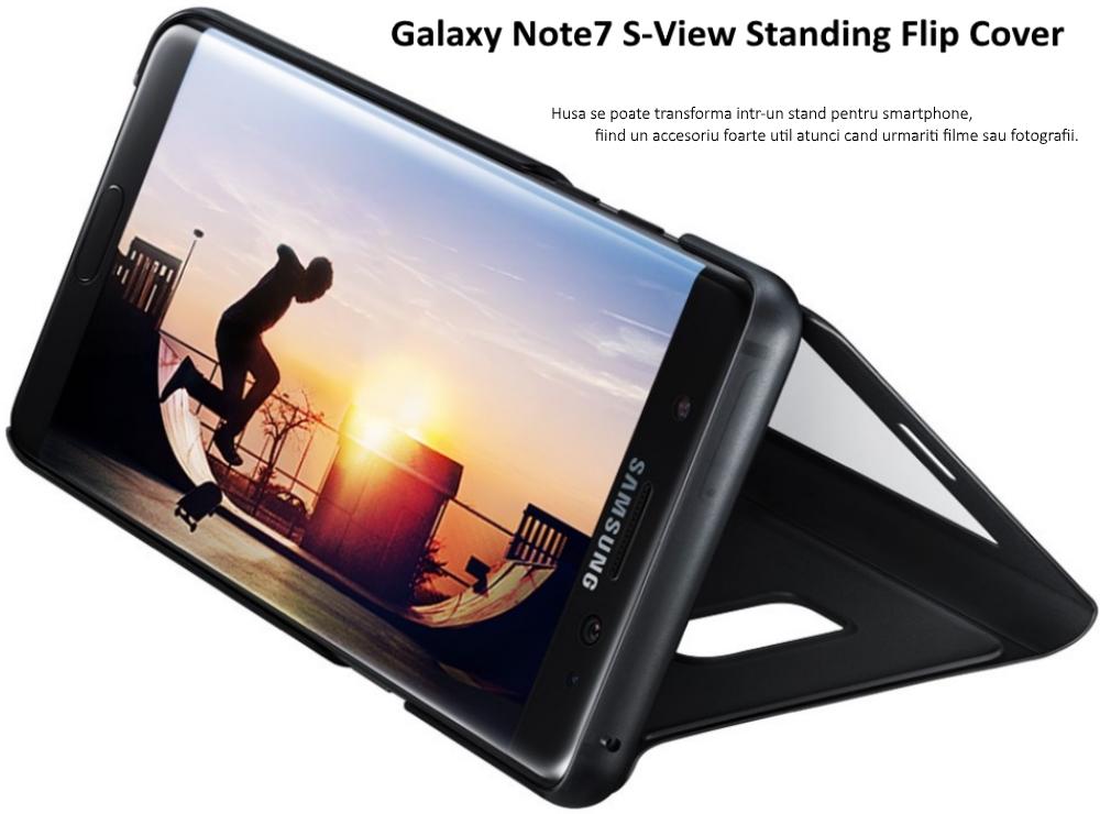 Husa Stand S-View pentru Samsung Galaxy Note 7 (N930)