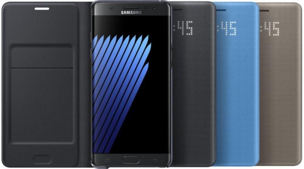 Husa protectie Led View Cover pentru Samsung Galaxy Note 7 (N930), EF-NN930PL Blue 1