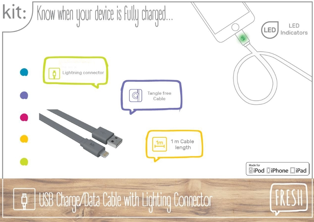 cablu-date-si-incarcare-kit-fresh-apple-lightning-mfi