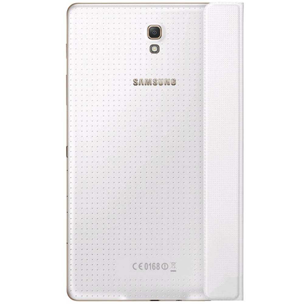 Tab S Book Cover Dazzling White : Husa simple cover dazzling white pentru samsung galaxy tab