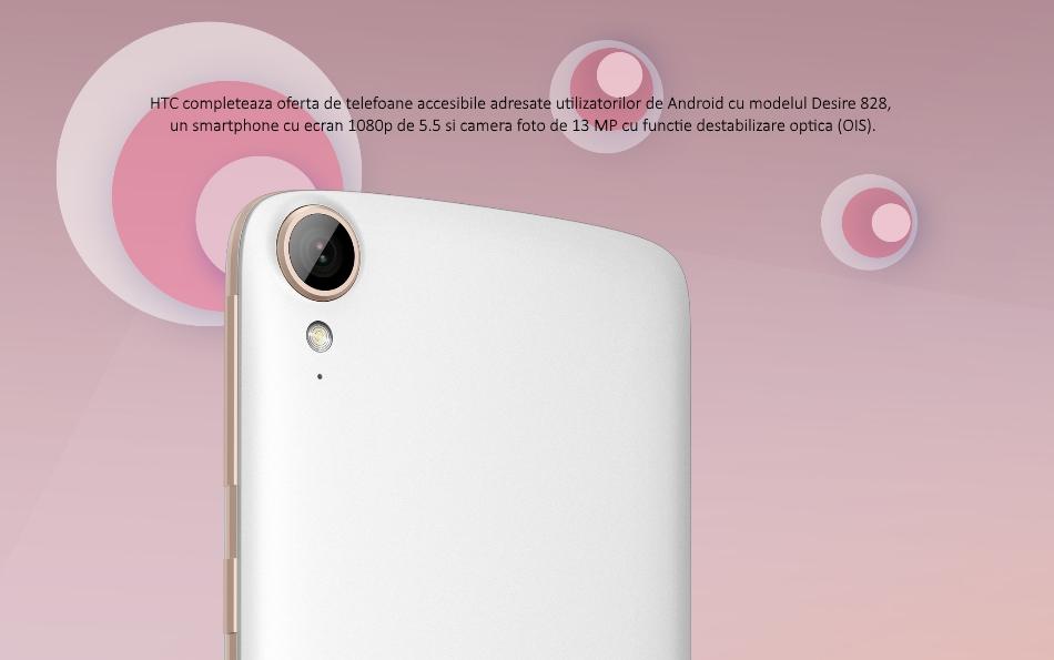 Telefon Mobil Single SIM HTC Desire 828, 16GB LTE, Dark